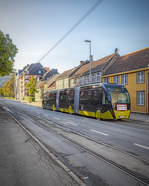 Trondheim Tram Like Super Bus Canvas print by Antony McAulay