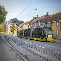 Buy canvas prints of Trondheim Tram Like Super Bus by Antony McAulay