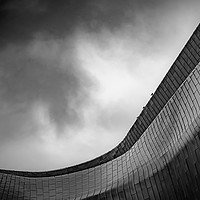 Buy canvas prints of Glasgow Riverside Museum Dramatic Abstract by Antony McAulay