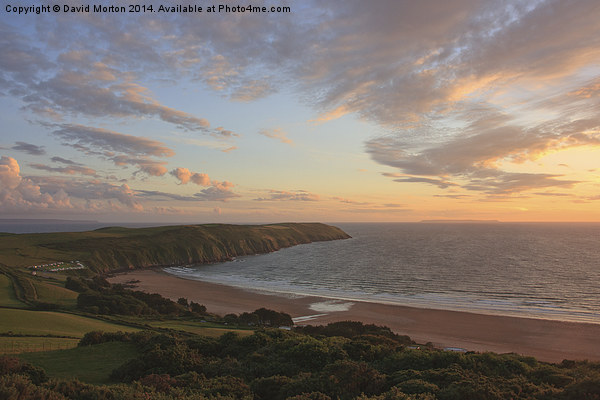 Evening Sky Over Baggy Point Canvas print by David Morton