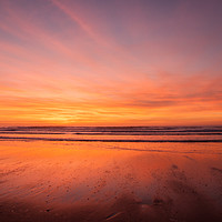 Buy canvas prints of Sunset over Croyde Bay by David Morton