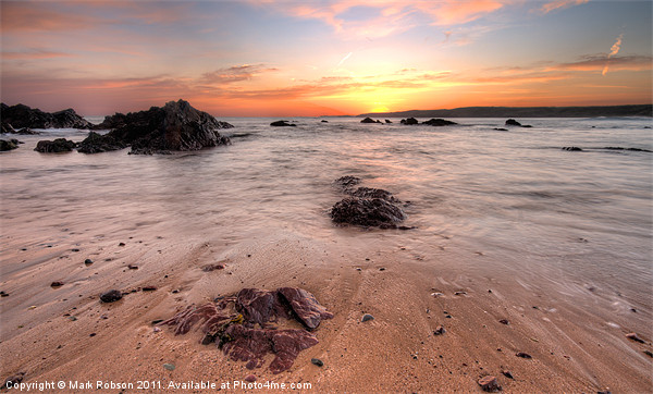 Freshwater West Print by Mark Robson