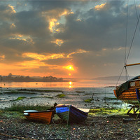 Buy canvas prints of Port Lion Sunrise by Mark Robson