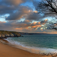 Buy canvas prints of Barafundle Beach by Mark Robson