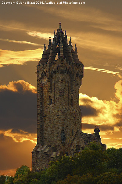 The Wallace Monument Canvas Print by Jane Braat