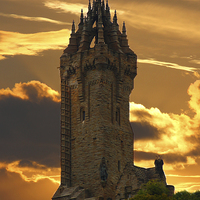 Buy canvas prints of  The Wallace Monument by Jane Braat