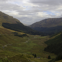 Buy canvas prints of  Rest and Be Thankful - Glen Croe by Jane Braat
