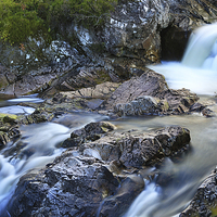 Buy canvas prints of River Coupall Waterfall  by JM Braat