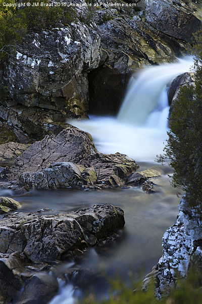 The River Coupall Waterfall  Canvas print by JM Braat
