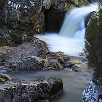 Buy canvas prints of The River Coupall Waterfall  by JM Braat