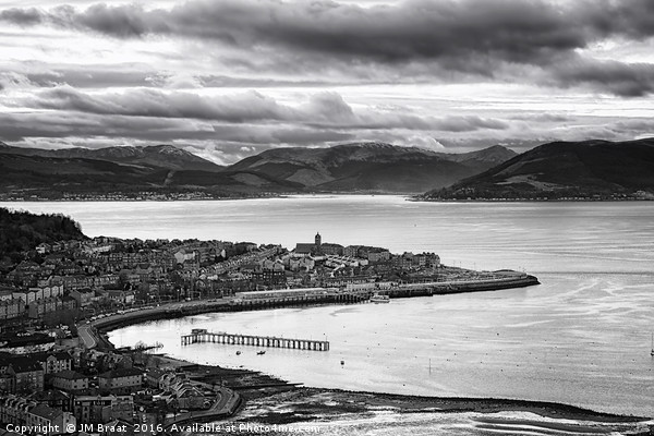 View from Lyle Hill in Greenock Canvas print by JM Braat