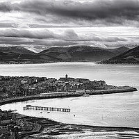Buy canvas prints of View from Lyle Hill in Greenock by JM Braat