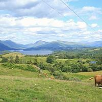 Buy canvas prints of Loch Awe Landscape by Jane Braat