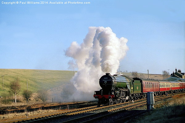 Green Arrow Departing from Hellifield Canvas print by Paul Williams
