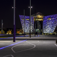 Buy canvas prints of  Titanic Building Belfast - Northern Ireland by Chris Curry