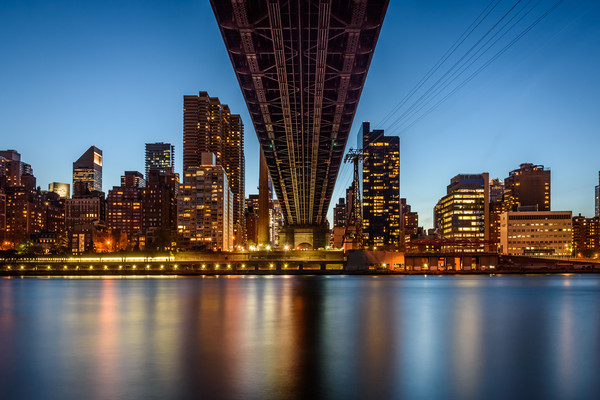 59th Street Bridge Midtown Mahattan New York City Framed Mounted Print by Chris Curry