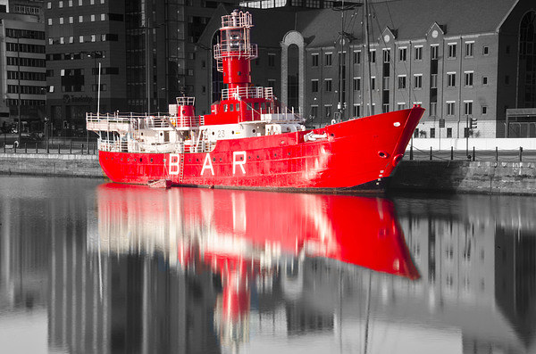 Red BAR Boat Canvas Print by Steve Buck