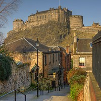 Buy canvas prints of The Vennel, Brown's Place, Edinburgh, Scotland by ALBA PHOTOGRAPHY