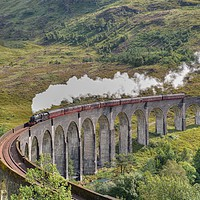 Buy canvas prints of The Jacobite Steam Train. by ALBA PHOTOGRAPHY