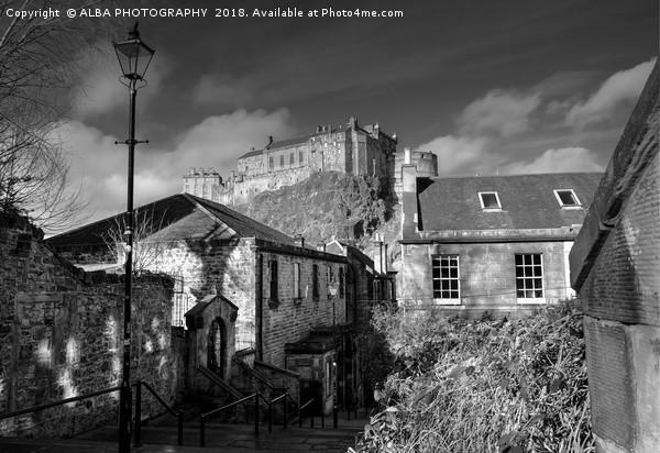 The Vennel Steps & Edinburgh Castle, Scotland  Canvas print by ALBA PHOTOGRAPHY