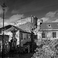 Buy canvas prints of The Vennel Steps & Edinburgh Castle, Scotland  by ALBA PHOTOGRAPHY