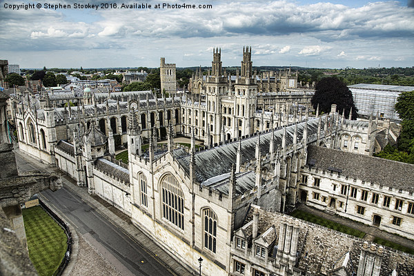 All Souls College - Oxford University Canvas print by Stephen Stookey