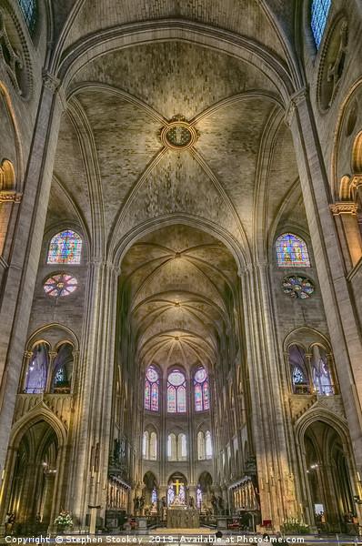 Notre Dame Altar - #3 Canvas print by Stephen Stookey