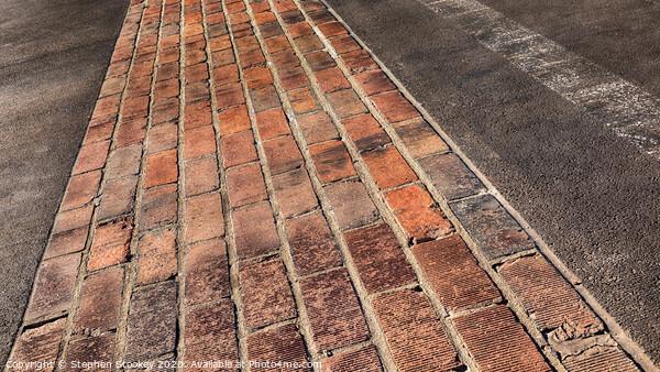 Yard of Bricks - Indianapolis Motor Speedway Finish Line Canvas Print by Stephen Stookey