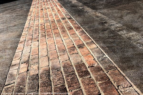 Yard of Bricks - Finish Line at Historic Indianapolis Motor Speedway Canvas Print by Stephen Stookey
