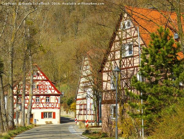 Hautschenmuehle (Hautschen Mill) Canvas print by Gisela Scheffbuch