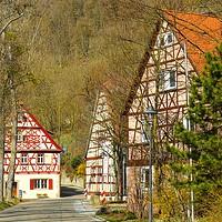 Buy canvas prints of Hautschenmuehle (Hautschen Mill) by Gisela Scheffbuch