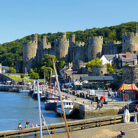 Buy canvas prints of Conwy by Gisela Scheffbuch