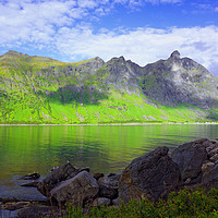 Buy canvas prints of Panoramic View on the Island of Senja by Gisela Scheffbuch
