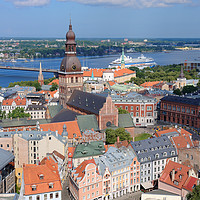 Buy canvas prints of Riga in the Heart of the Baltic Region by Gisela Scheffbuch