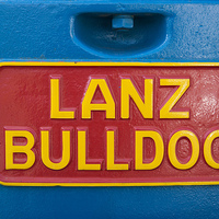 Buy canvas prints of Sign Lanz Bulldog on tractor by Matthias Hauser