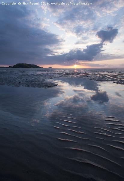Uphill Beach Sunset Canvas print by Nick Pound