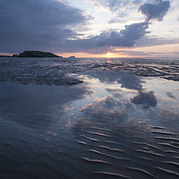 Buy canvas prints of Uphill Beach Sunset by Nick Pound