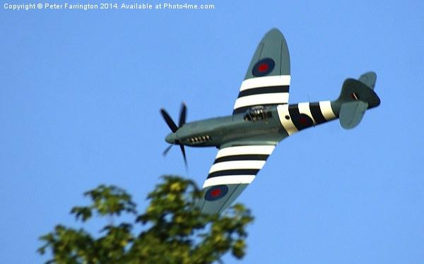 Spitfire Over Halton Framed Print by Peter Farrington
