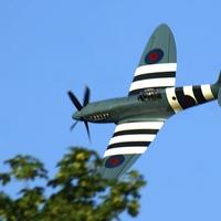 Buy canvas prints of Spitfire Over Halton by Peter Farrington