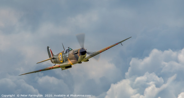 Battle of Britain Spitfire Canvas Print by Peter Farrington