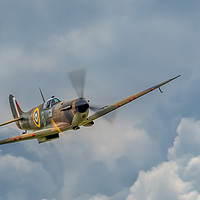Buy canvas prints of Battle of Britain Spitfire by Peter Farrington