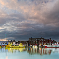 Buy canvas prints of Poole Quay at sunset  by Shaun Jacobs