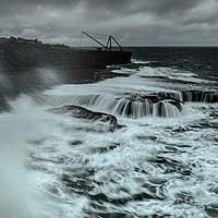 Buy canvas prints of Rough seas in Portland, Dorset  by Shaun Jacobs