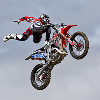 Buy canvas prints of Bolddog Lings FMX Display Team by Andrew Harker