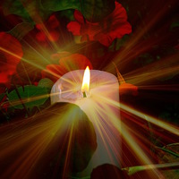 Buy canvas prints of  Candle in the night for world peace by sylvia scotting