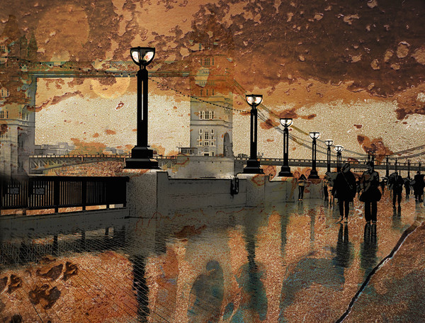 Rain In Autumn                          Canvas print by sylvia scotting