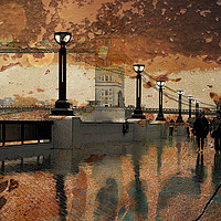 Buy canvas prints of        Rain In Autumn                          by sylvia scotting