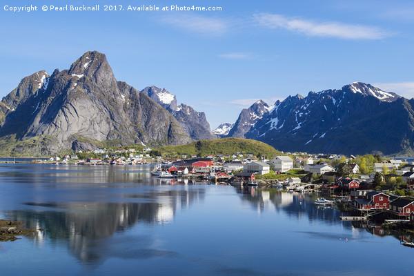 Scenic Lofoten Islands of Norway Print by Pearl Bucknall