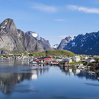 Buy canvas prints of Scenic Lofoten Islands of Norway by Pearl Bucknall
