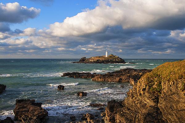 Godrevy Lighthouse Framed Mounted Print by Kevin Britland
